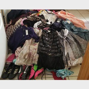 I DON'T HAVE PATIENCE -- APPROX 135LBS OF CLOTHES